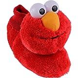 Sesame Street Elmo Little Kids Sock Top Slippers (L (9-10), Smile Red)