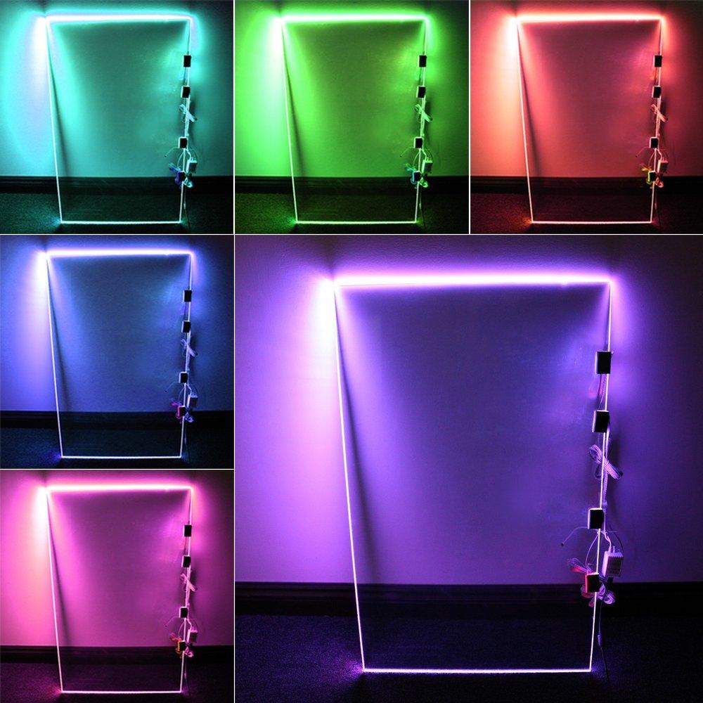 Led Glass Cabinet Shelf Light: RGB LED Glass Shelf Lighting Kit: 4pcs Glass Edge Lights