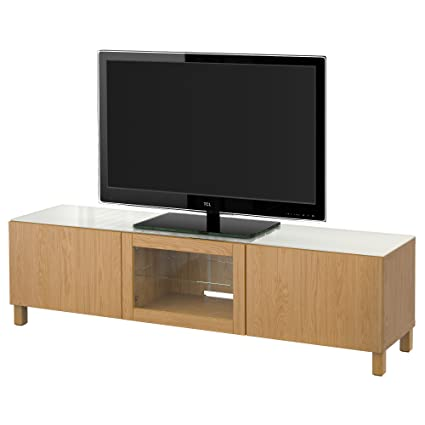 IKEA BESTA - Banc TV avec portes Lappviken effet de chêne