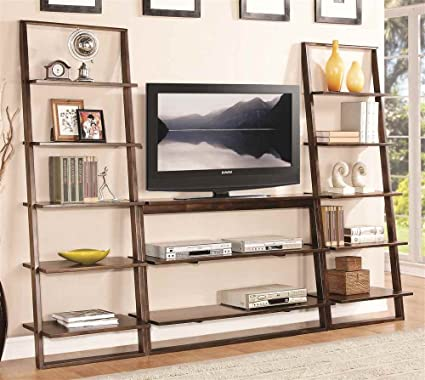 Entertainment Center with Two Bookcases