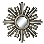Silver Deco Sunburst Wall Mirror