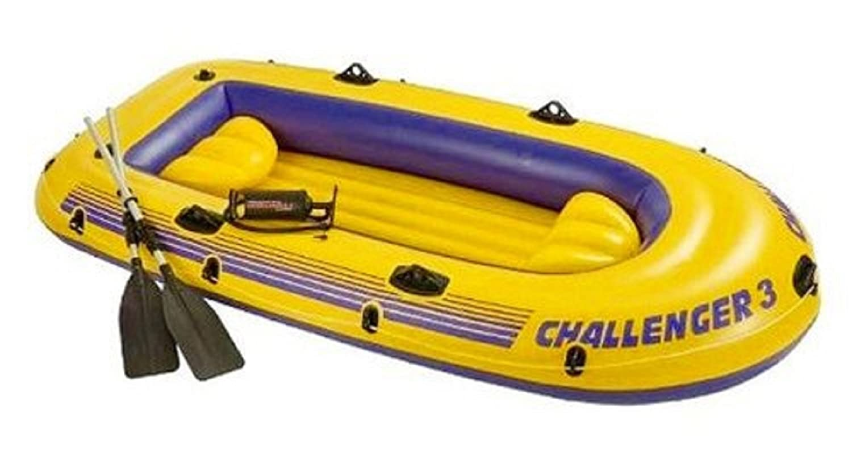 Schlauchboot Boot Paddelboot gelb geeignet für 3 Erwachsenen – Maximale Belastbarkeit 255 kg – ca. 295 x 137 x 43 cm – aufblasbarer Boden u. – Sitzkissen – mit Handpumpe jetzt kaufen