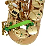 Key Leaves - saxophone key props for Alto, Tenor, Bari, Bass or C Melody sax (Color: Green)