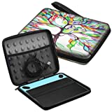 Fintie Carry Case for Wacom Intuos - Portable Travel Bag for Small CTL4100WLK0 / Draw CTL-490DW/490DB / Art CTH-490AK/490AB / Comic CTH-490CK/490CB / Photo CTH490PK Drawing Tablet, Love Tree (Color: Love Tree)
