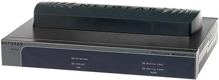 Netgear WNDAP350-100PES Point d'Accès Wi-Fi 802.11N 600 Dual Band, Jusqu'à 16 BSSID et 17 VLANS, 1 Port Gigabit POE, Jusqu'à 50 Utilisateurs, Garantie à Vie
