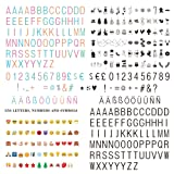 Letters and Symbols , Numbers /Colour Emoji with Festival Symbols total 350 Party Decorative Characters use for your Cinematic lightbox (full color) (Color: Full Color)