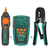 Pro'sKit Network/Coaxial Cables Toner Generator & Probe Kit Cable Tester + 3 Port Modular Crimping Pliers (Tamaño: Toner+Crimp)