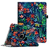 Fintie iPad Pro 9.7 Case - 360 Degree Rotating Case with Smart Stand Cover Auto Sleep/Wake Feature for Apple iPad Pro 9.7 inch (2016 Version), Jungle Night (Color: ZA-Jungle Night)