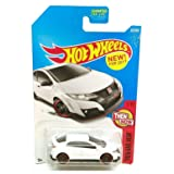 Hot Wheels 2017 Then and Now '16 Honda Civic Type R 327/365, White (Color: White)