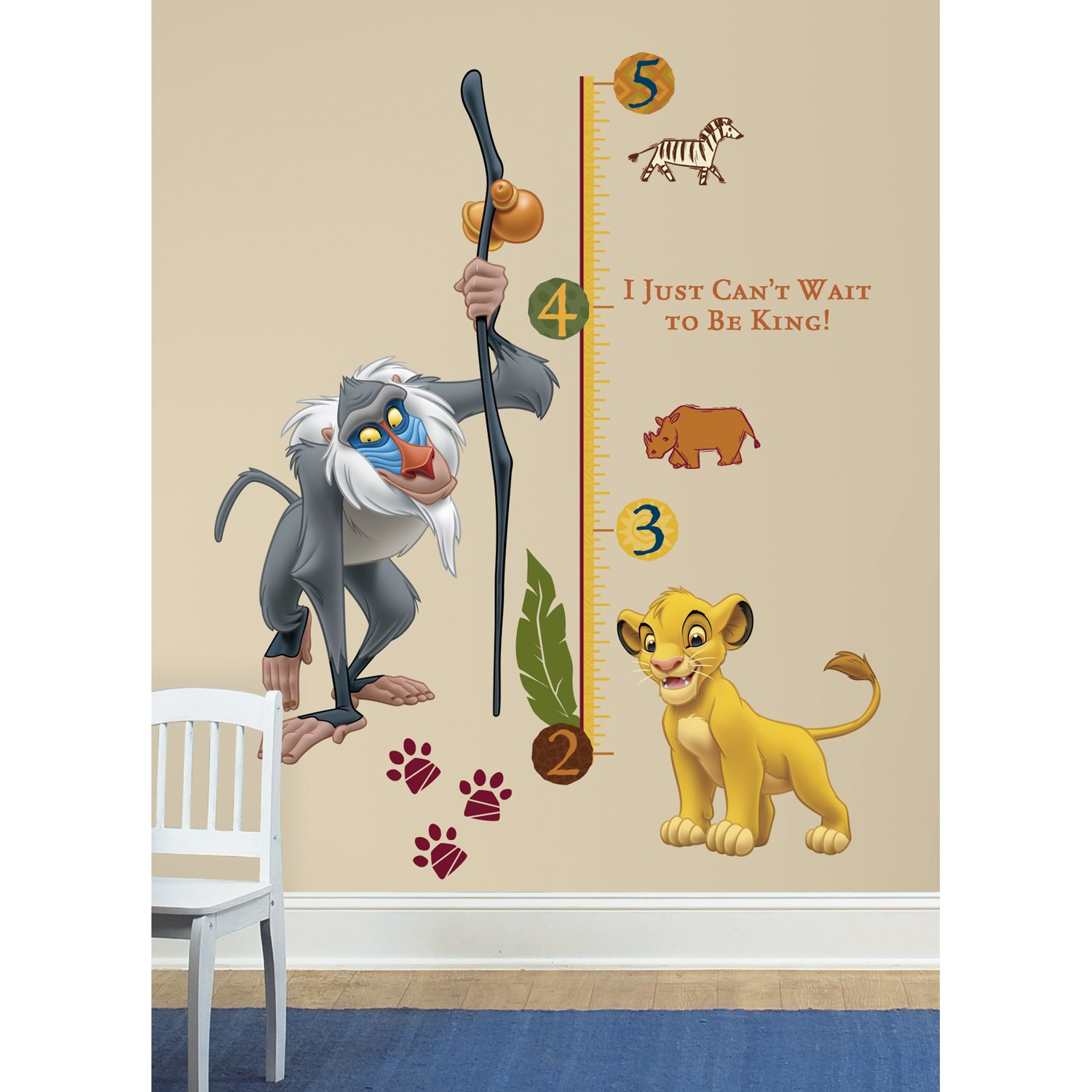 Simply diy nursery wall decals and stickers the lion king rafiki peel and stick growth chart wall decal amipublicfo Gallery