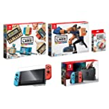 Nintendo Switch and Labo Deluxe Bundle (5items): Nintendo Labo Robot Kit, Nintendo Labo Variety Kit, Official Nintendo LABO Customization Set, Screen Protector and Nintendo Switch 32GB Console - Neon