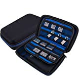 Wolven USB Flash Drive/Hard Drive/Game Consoles/Game Card EVA Waterproof Shockproof Hard Case Bag for Nintendo DS Lite/DSL / DSi / 3DS / 3DSXL - Blue (Color: Blue, Tamaño: Average)
