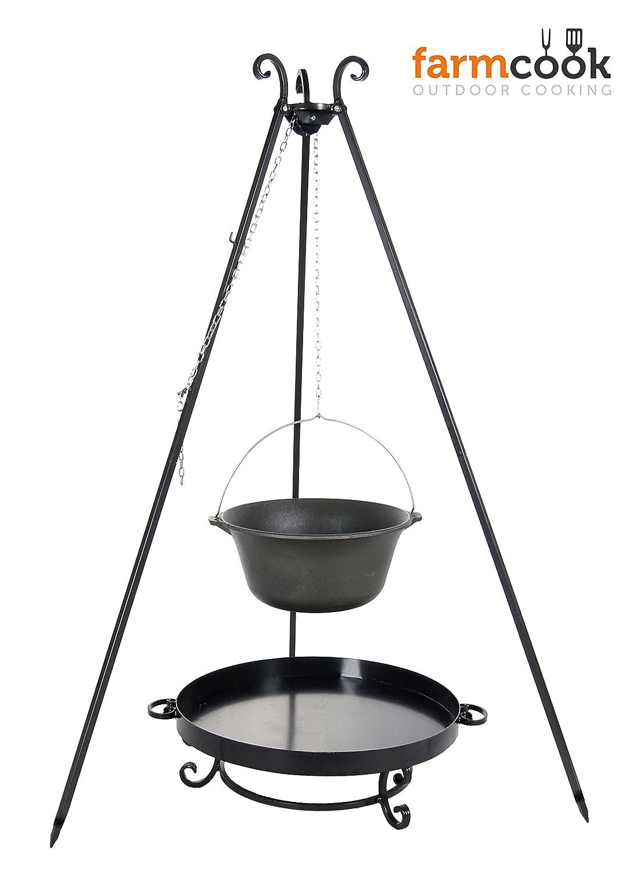 Dreibein mit Gulaschkessel 16 Liter und Feuerschale Pan 32 online bestellen