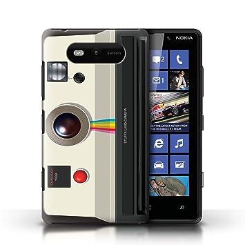 coque en plastique pour pour nokia lumia 820 collection appareil photo high. Black Bedroom Furniture Sets. Home Design Ideas