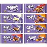 Milka Assorted Chocolates Variety Pack of 8 Bars (Bundle #3)