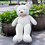 YXCSELL 63 Inches/160cm Brown With Pocket Love Bear Stuffed Giant Animals Teddy Bear (Color: Brown, Tamaño: 63 Inches)