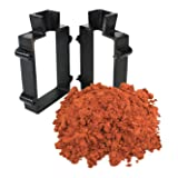 Sand Casting Set with 5 Lbs Petrobond Quick Cast Sand Casting Clay and Cast Iron Mold Flask Frame Melt Pour Metals