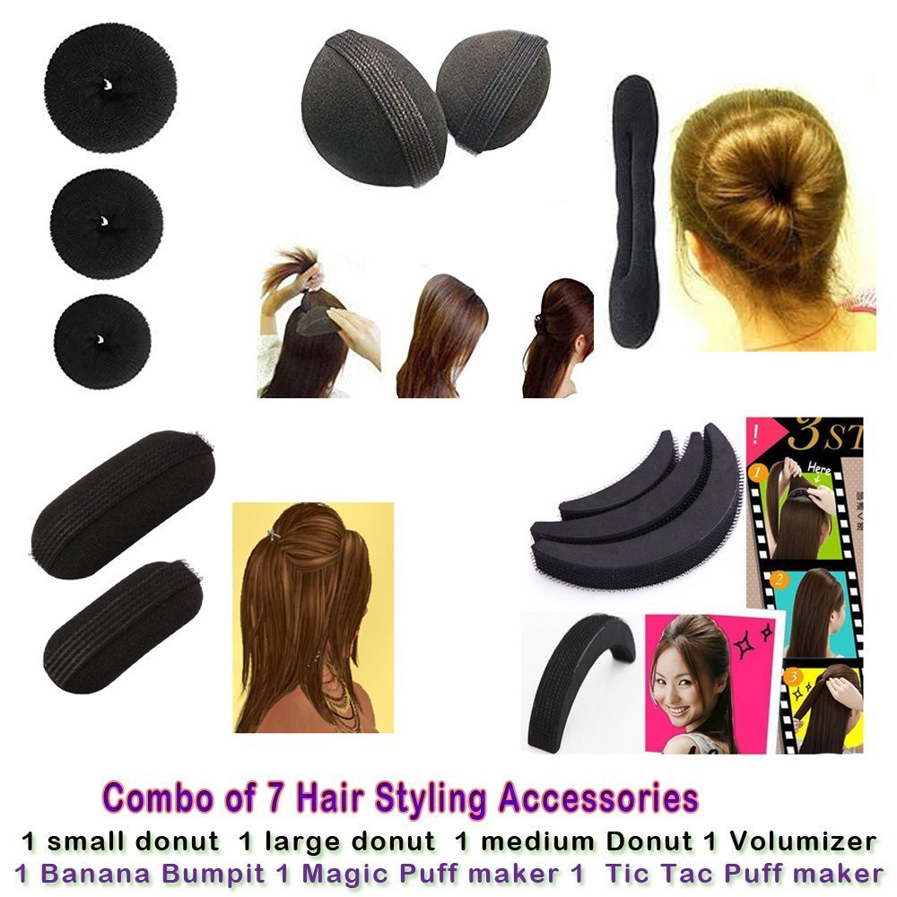 Homeoculture Combo of 7 hair accessories