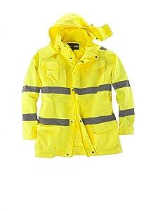 Wasserdichte Warnschutzjacke in Herrenübergrößen, gelb  BekleidungKundenberichte und weitere Informationen