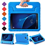 BMOUO Kids Case for Samsung Galaxy Tab A 7.0 - EVA ShockProof Case Light Weight Kids Case Super Protection Cover Handle Stand Case for Kids Children for Samsung Galaxy Tab A 7-inch Tablet - Blue (Color: Blue)
