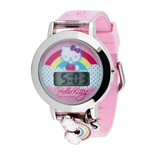 Hello Kitty Kids' HK1357 Hearts Galore with Rainbow Charm Watch