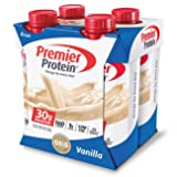 Premier Protein 30g Protein Shakes, Vanilla, 11 Fluid Ounces (Pack of 4) (Tamaño: 11 Fluid Ounces, 4 Count)