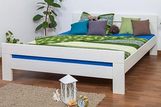 "Doppelbett ""Easy Sleep"" K6, 180 x 200 cm Buche Vollholz massiv weiß lackiert"