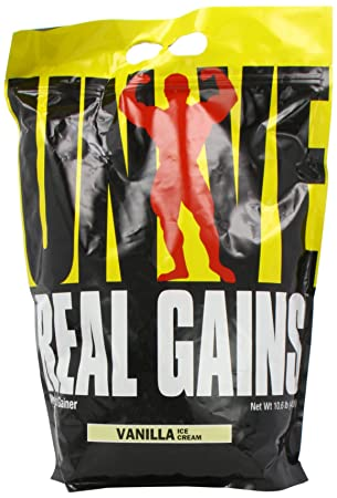 Universal Nutrition Real Gains Vanilla Ice Cream, 1er Pack (1 x 4.8 kg)