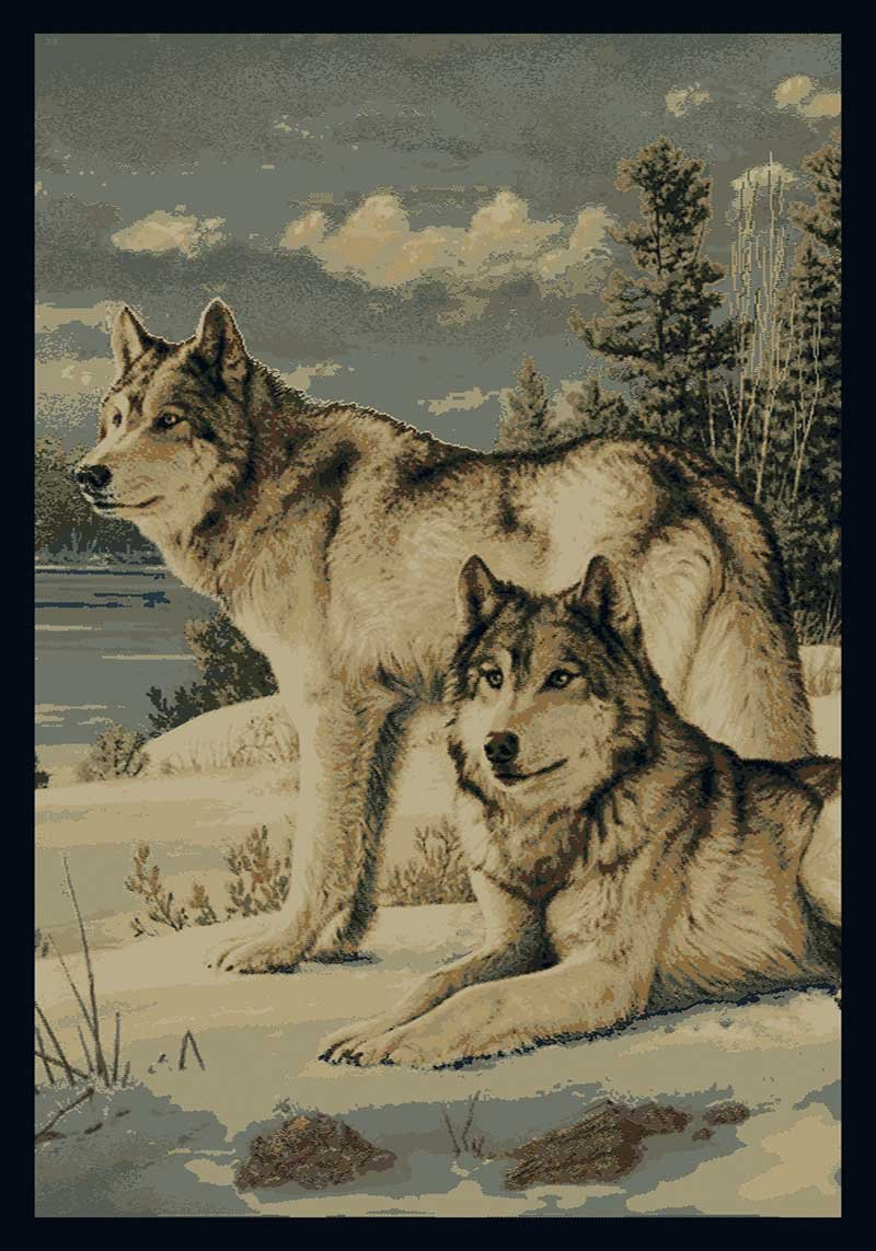 Wolf Area Rugs Shop Everything Log Homes