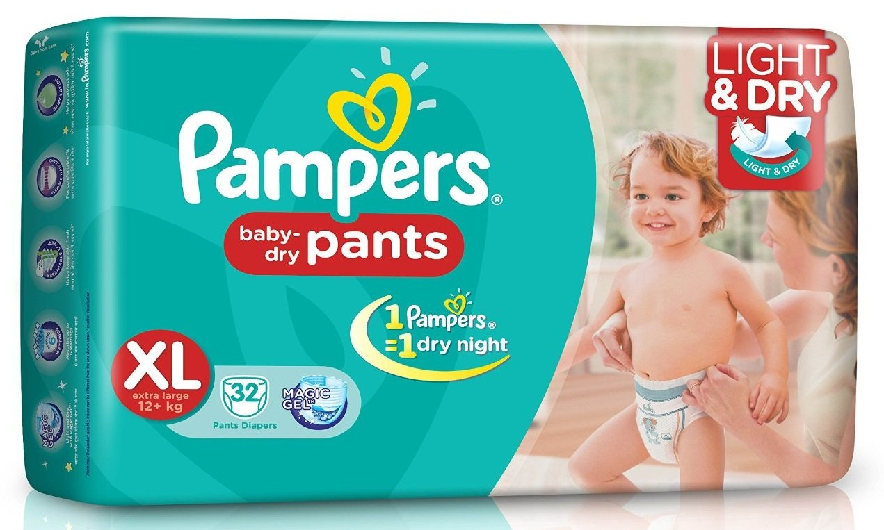 pampers easy up pants which is the front