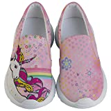 PattyCandy Elegant Unicorn & Rainbow Kids Lightweight Casual Shoes - US 1Y (Color: Light Pink, Tamaño: US 1Y)