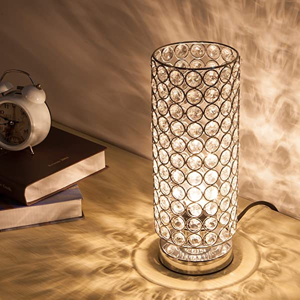 Zeefo crystal table lamp nightstand decorative room desk lamp zeefo crystal table lamp nightstand decorative room desk lamp night light lamp table lamps for bedroom aloadofball Image collections
