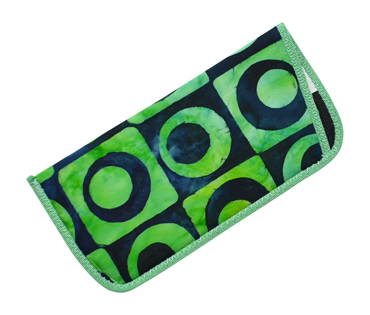 Bold Patterned Eyeglass Slip Case Purple Orange Yellow Green Blue Lime USA Made 0