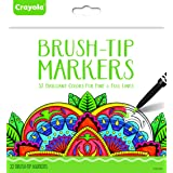 Crayola Brush Tip Makers, Adult Coloring, 32 Count (Tamaño: Brush Tip Markers)
