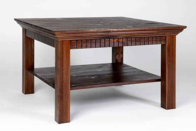 Tavolino da salotto laccato kolonialfarben, dimensioni: 76x 76cm