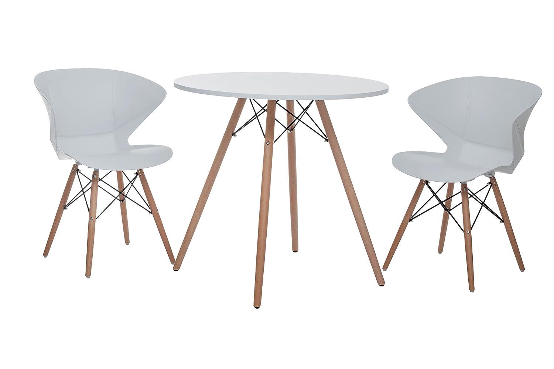 Sitzgruppe Ray, Designer-Tisch + 2 Stühle, Retro-Tisch mit 2 Stühlen jetzt bestellen