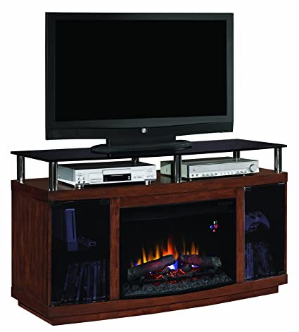"ClassicFlame 26MM9405-W324 Drew TV Stand for TVs up to 60"", Autumn Birch (Electric Fireplace Insert sold separately)"