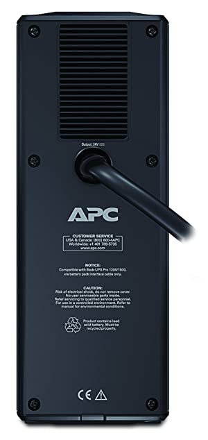 APC External Battery Backup Pack for Model BR1500G (BR24BPG) (Color: Black, Tamaño: 1500VA  Supplemental)