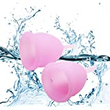 YAMETE Menstrual Cups - 1 Large 1 Small Reusable Hygiene Period Cup Set, Moon Cup Economical Natural Alternative for Tampons and Sanitary Napkins Pre Childbirth (2-Pack, Pink) (Color: Pink, Tamaño: Small, Large)
