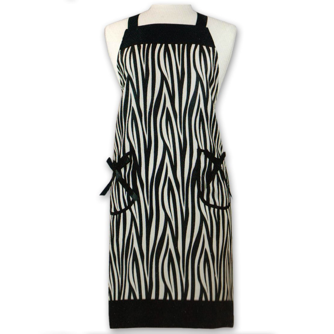 Gourmet Club Zebra Bib Apron with Pockets