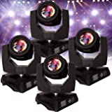 Ridgeyard 230W 7R Sharpy Zoom Moving Head Beam Light 16CH 16 Prism DJ Stage Lighting For Wedding Christmas Birthday DJ Disco KTV Bar Event Party Show (4 PCS) (Color: black, Tamaño: 4 PCS)