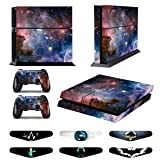 Skins for PS4 Controller - Decals for Playstation 4 Games - Stickers Cover for PS4 Console Sony Playstation Four Accessories PS4 Faceplate with Dualshock 4 Two Controllers Skin -Bright