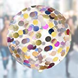 Neo LOONS 36 Inch Giant Confetti Balloons, Multi-Color Latex Confetti Round Balloons for Birthdays Weddings Receptions Festival Party Decoration, Pack of 10 Pcs (Color: Multi-color Confetti, Tamaño: 10 Pack)