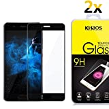 [2 Pack] Khaos For Huawei P10 Plus HD Clear Tempered Glass Screen Protector ,3D Curved Full Cover with Lifetime Replacement Warranty -Black