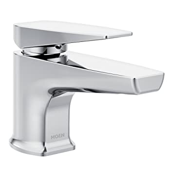 Moen S8001 Via One-Handle Low Arc Bathroom Faucet, Chrome
