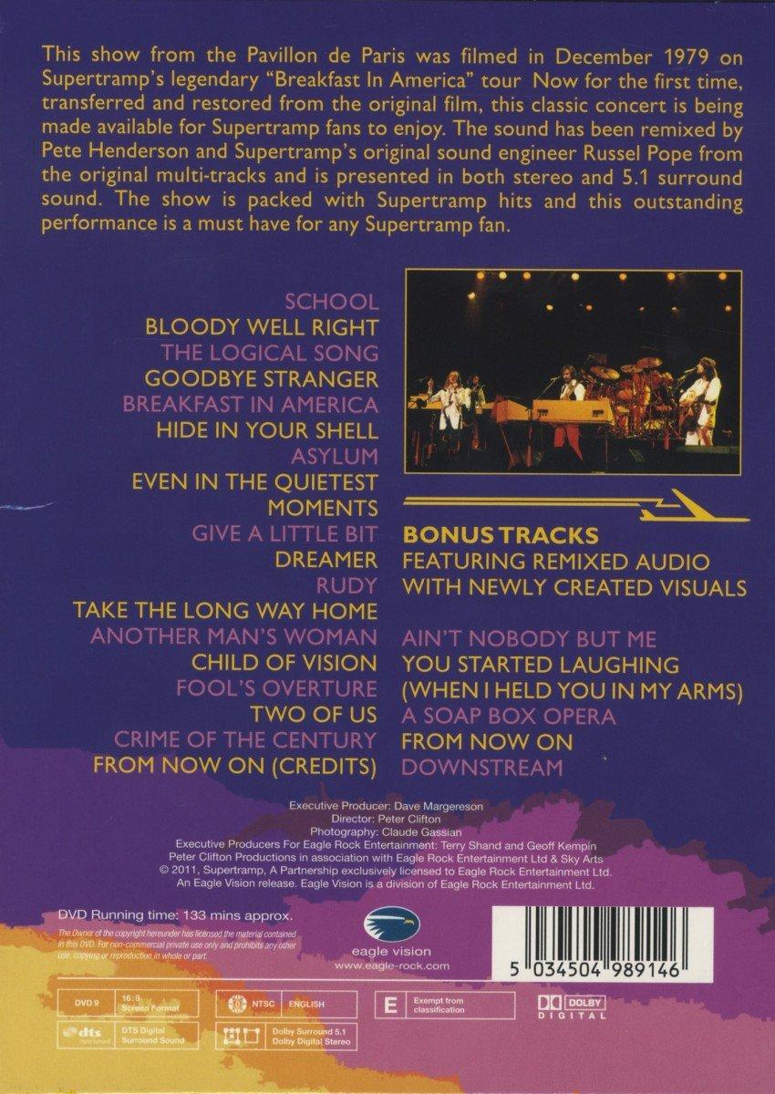 Paris Dvd Supertramp Supertramp Live in Paris