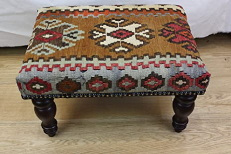 Rug Store Turkish Kilim Stool London - Size cm: 50 X 36 Code R7037