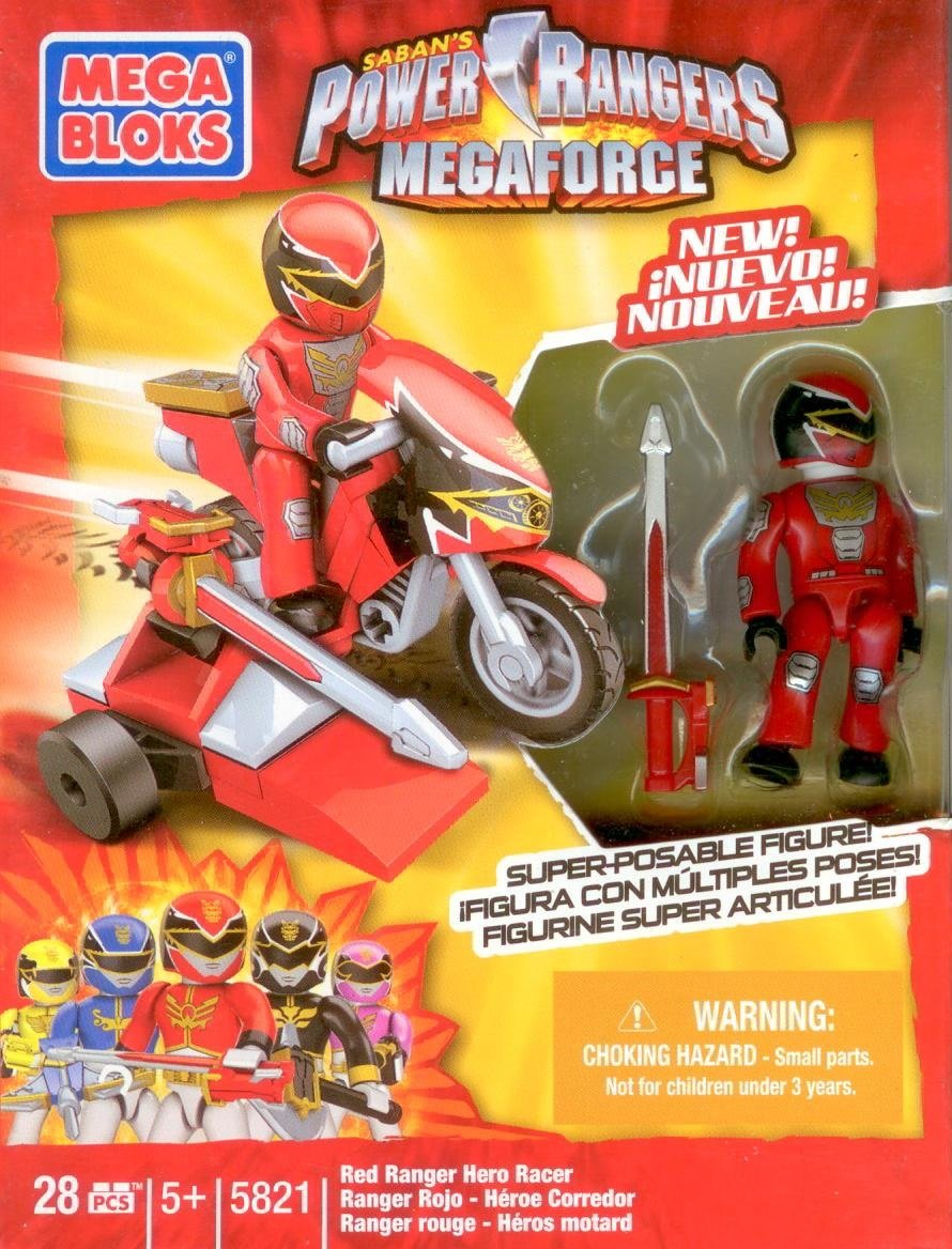 Mega Bloks Power Rangers Hero Racer Sets of 5 with Minifigures RARE online kaufen