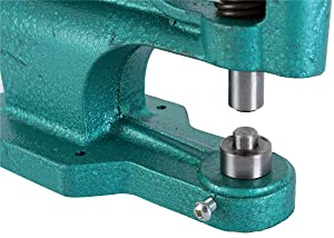 FLK Tech Craft/Industrial Use Manual Press Grommet Machine Heavy Duty with 1500 Grommets Eyelet with 3 Dies (#0#2#4)