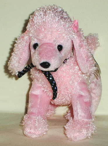 Amazon Com Ty Beanie Babies Brigitte The Pink Poodle